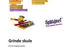 Kodeplan for Grinde skule Nerf, Digital