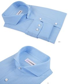 Luxire Fit-Test Trial Shirt   Light Sky Blue Chambray shirts in 100% cotton.   Features: Cutaway collar with 1-button cuff.
