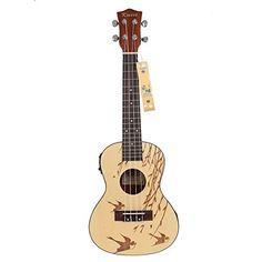 "Kmise Soild Spruce Ukulele 24"" Electro-Acoustic Concert Ukulele Hawaii Guitar Kmise® http://www.amazon.com/dp/B010DEU822/ref=cm_sw_r_pi_dp_8Aakwb0DK644Y"