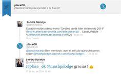 Ministra de Turismo de #Ecuador también lee nuestro blog www.placeok.com Dic 2014