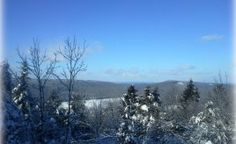 View from the pinnacle at #Lake George Regional Park, Canaan, Maine #mainevacation