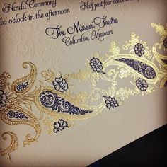 #gold foil that will make you #swoon! #letterpress