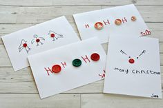 Easy Button Christmas Cards
