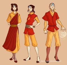 Jinora, Ikki and Meelo, grown up.  I would like to watch these three grow (esp Jinora) ... I love how this artist still kept their personalities intact.