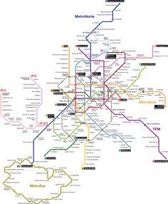 El metro de Madrid abrió su primera línea el 17 de octubre de 1919, en tiempos del rey Alfonso XIII, como ferrocarril metropolitano. Contaba con una única línea de tan sólo 3,48 km de longitud y 8 estaciones que unía Puerta del Sol con Cuatro Caminos en un tiempo de 10 minutos. Hoy, según Wikipedia, el Metro de Madrid es el segundo metro europeo por extensión y el séptimo en el mundo.  #mapa #metro #madrid