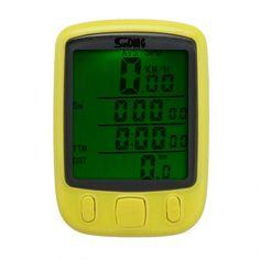 Multifunction Cycling Speedometer Odometer LCD Backlight - Digital / Waterproof