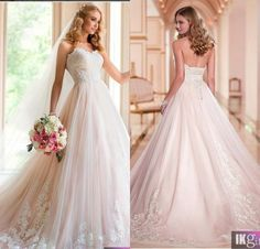 A Line Sweetheart SweepTrain Tulle Appliques wedding dress 2015 hot sale sweetangel Lace Up Cheap Wedding Bridal Gowns
