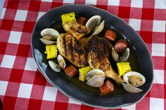 Grilled Chicken with Kielbasa & Clams Recipe by Michael Symon