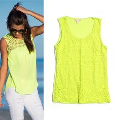 SALE‼️Banana Republic Lace Front Tank Excellent condition lace front tank . Modeled pic is just for styling inspiration & courtesy of Pinterest. Actual item is one laying on white surface on the right & pic 2 Banana Republic Tops Tank Tops