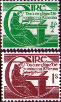 Postage Stamps of Eire Ireland 1944 Michael O'Clery Set Fine Used  Other European and British Commonwealth Stamps HERE!