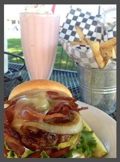Jaspers Cafe - medford oregon, the best place for a great hamburger!!  Absolutely!!!  Putting fries in the can is fairly new, it saves trees though!