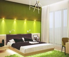Wandfarben Design Grün Schlafzimmer Sternzeichen Waage