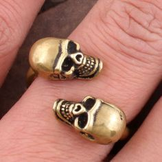 Kiss of Death rings skull retro personality size adjustable rings,fashion jewelry lowest price shop at www.gofavor.us