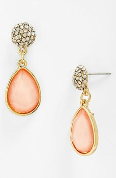 Pretty in pink - Stone Drop Earrings
