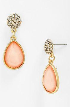 Pretty in pink - Stone Drop Earrings