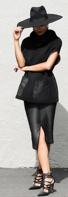 All In Black Classy Outfit by Micah Gianneli- LadyLuxuryDesigns