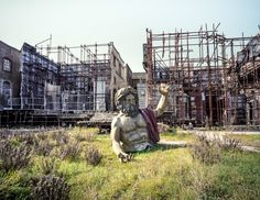 A Famed Movie Studio That's Now a Graveyard of Film Memories | Remains of a set design, backstage at Cinecittà, Rome. | Credit: Photo: Luca Locatelli | From Wired.com