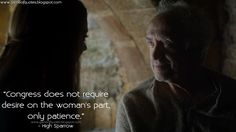 High Sparrow: Congress does not require desire on the woman's part, only patience. http://gameofquotes.blogspot.com/2016/06/congress-does-not-require-desire-on.html #HighSparrow #GameofThrones #GameofThronesQuotes #GOTQuotes