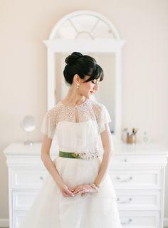 beautiful beaded pearl capelet | Gracie Blue #wedding