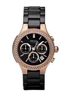 #watchobsession  DKNY Women's NY4984 Black Ceramic Quartz Watch with Black Dial: DKNY: Watches