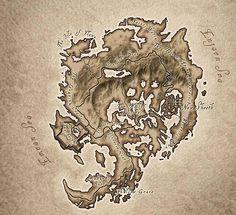 Elder Scrolls IV: Oblivion Shivering Isles Map.