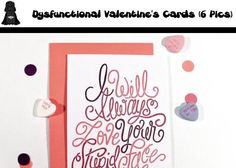 Dysfunctional Valentine's Cards (6 Pics)