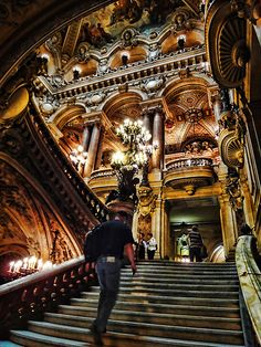 Opéra National de Paris, France**. Probably the most beautiful building I have ever visited.
