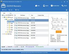 Recover CD DVD files