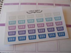 Laundry Planner Stickers. Perfect for your Erin Condren Life Planner, Plum Paper Planner, Filofax and  Kikkik. $3.25