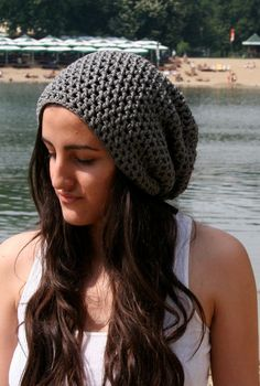 Summer cotton beanie Crochet womens hat Summer Hat by EllenaKnits, $24.00