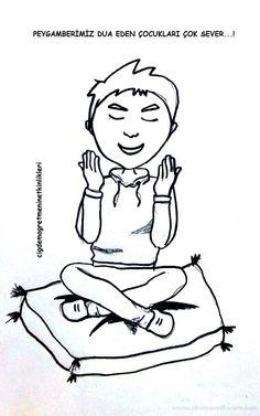 Peygamberimiz dua eden çocukları çok sever ! - Okul Öncesi Etkinlik Kaynağınız Baby Games, Mandala, Education, Comics, Cards, Islamic, Bb, Instagram, Pictures