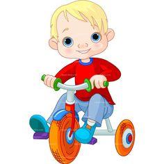 boy on bike cartoon - Google Search