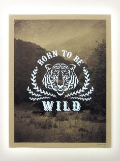 "Affiche ""Born to be wild"" par la griffe marseillaise Oaï of life - www.goodmorningsouth.com"