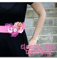 here's how to make your own funky belt from elastic - - Sugar Bee Crafts: Elastic Belt Tutorial