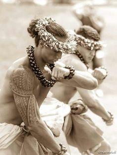 P - Hula kahiko (ancient hula). Photo by Kai Markell of Honolulu, Hawai'i.