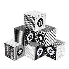 DIY Adventskalender Kisten Set für Erwachsene - 24 schwarz-weiße Kisten zum Aufstellen und selber Befüllen Box, Cube, Christmas, White Box, Lineup, Crates, Cardboard Paper, Boxes, Monochrome