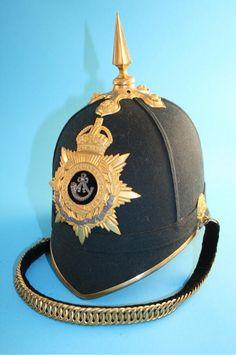 Durham Light Infantry officer's full dress helmet, 1914.