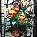 Custom Made Hummingbirds Stained Glass Panel by Cathedral Stained Glass Studios, Inc.