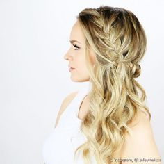 20 Long Hairstyles You Will Want to Rock Immediately! Side Braid Half Updo The post 20 Long Hairstyles You Will Want to Rock Immediately! appeared first on Geflochtene Frisuren. Braided Prom Hair, Braided Half Updo, Hair Half Updo, Side Braids For Long Hair, Braid To The Side, Hair Down Braid, Haircuts For Long Hair, Wedding Hairstyles For Long Hair, Bridesmaid Hairstyles