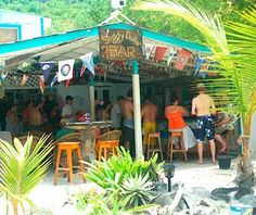soggy dollar bar......probably one of the top Caribbean bars! and of course, the infamous Painkillers!!