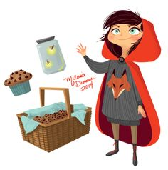 artbymelanie: Little Red character design study just for fun!