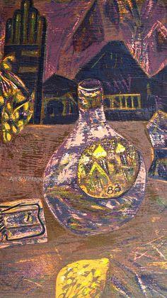Eateban Fekete - Original Limited Edition Woodcut – Art & Vintage Store Ltd Vintage Prints, Vintage Art, Wall Art Prints, Fine Art Prints, Woodcut Art, Sign Printing, Wood Engraving, Affordable Art, Abstract Print