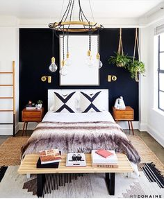 Bedroom ideas, bedroom wall, dream bedroom, home bedroom, bedroom decor Cozy Bedroom, Modern Bedroom, Bedroom Wall, Scandinavian Bedroom, Eclectic Bedrooms, Dream Bedroom, White Bedrooms, Bedroom Curtains, Girl Bedrooms