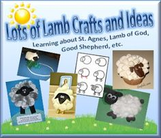 Lamb Crafts {St. Agnes, Lamb of God, Good Shepherd, etc.} ~ And the Winner is.... | Catholic Inspired ~ Arts, Crafts, and Activities!