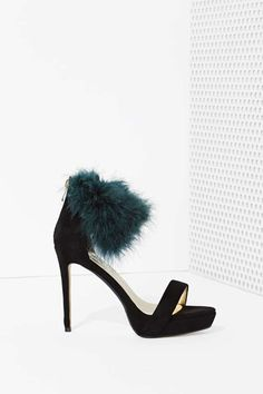 High and Fly Faux Feather Heel at Nasty Gal