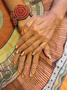 Formentera inspired nail art