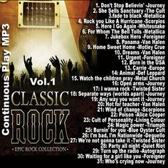 80's Rock Vol.1 Music Hits Classic MP3 Collection 1 MP3 CD/DVD Disc