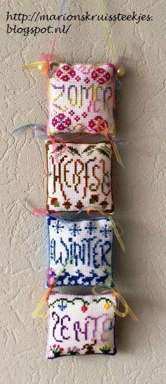 Creative Workshops from Hetti: Lente, Spring Freebie Cross Stitch Freebies, Cross Stitch Needles, Creative Workshop, Needle Book, Cross Stitch Designs, Cross Stitching, Blackwork, Seasons, Embroidery