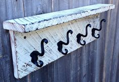 Barn wood coat rack by Thesalvagednail on Etsy, $45.00