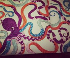 The Very Colourful Octopus Is Finally Complete Adult Colouring Colours